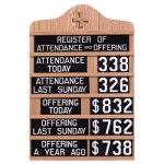 Church Attendance Board
