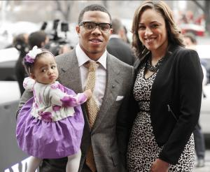 Ray and Janay with their daughter